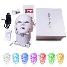 MeterMall 7 цветов Светодиодная маска для лица светодиодная Корейская фотонная терапия для лица Устройство для приготовления маски светотерапия акне маска для шеи Красота светодиодная маска