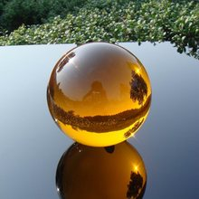 1 set/lot 30mm-100mm Amber Crystal Ball Sphere Crystal Healing Round Ball For Home Decoration Feng Shui Balls