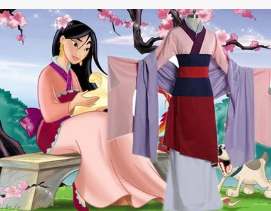 Костюм для косплея из фильма «Мулан», красный, синий, драма, платья принцесс, мушу, дракон, костюм Хуа Мулан на Хэллоуин
