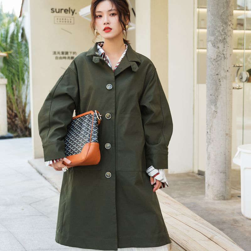 SuperAen New Fashion Women Windbreaker Spring and Autumn Korean Style   Trench   Coat for Women 2019 Wild Casual Women Clothing