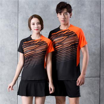 Nowe koszulki Badminton 2020 mężczyźni kobiety koszulka golfowa koszulki tenisowe koszulki do tenisa stołowego szybkie suche spodenki sportowe koszulki 9913 tanie i dobre opinie NoEnName_Null Poliester Krótki Anty-pilling Anti-shrink Przeciwzmarszczkowy Oddychająca Koszule Pasuje prawda na wymiar weź swój normalny rozmiar