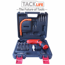 TACKLIFE 47pcs Cordless Electric Drill mini Electric Screwdriver Rechargeable Lithium Battery Electric Screw Driver Power Tools