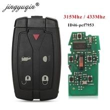 Jingyuqin Land Rover Freelander 2 için akıllı uzaktan kumanda araba anahtarı 315Mhz /433 Mhz durumda 5 düğme ile küçük kesilmemiş bıçak