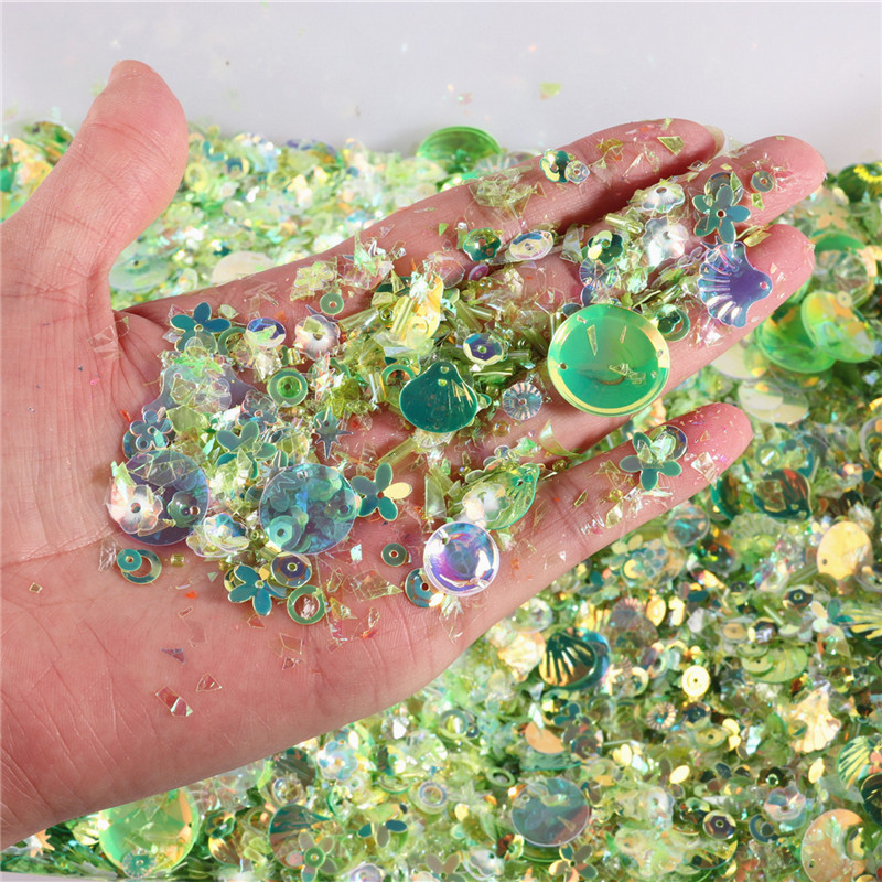 Big Sequin Mix Holographic Confetti Flakes Iridescent Glitter Sprinkles Bling Bling Filling Materials Resin Cabochon Making 10g
