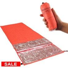 Lixada портативный спальный мешок, теплоотражающий спальный мешок для кемпинга, походный туристический коврик для выживания, походный коврик Saco De Dormir 200x72 см