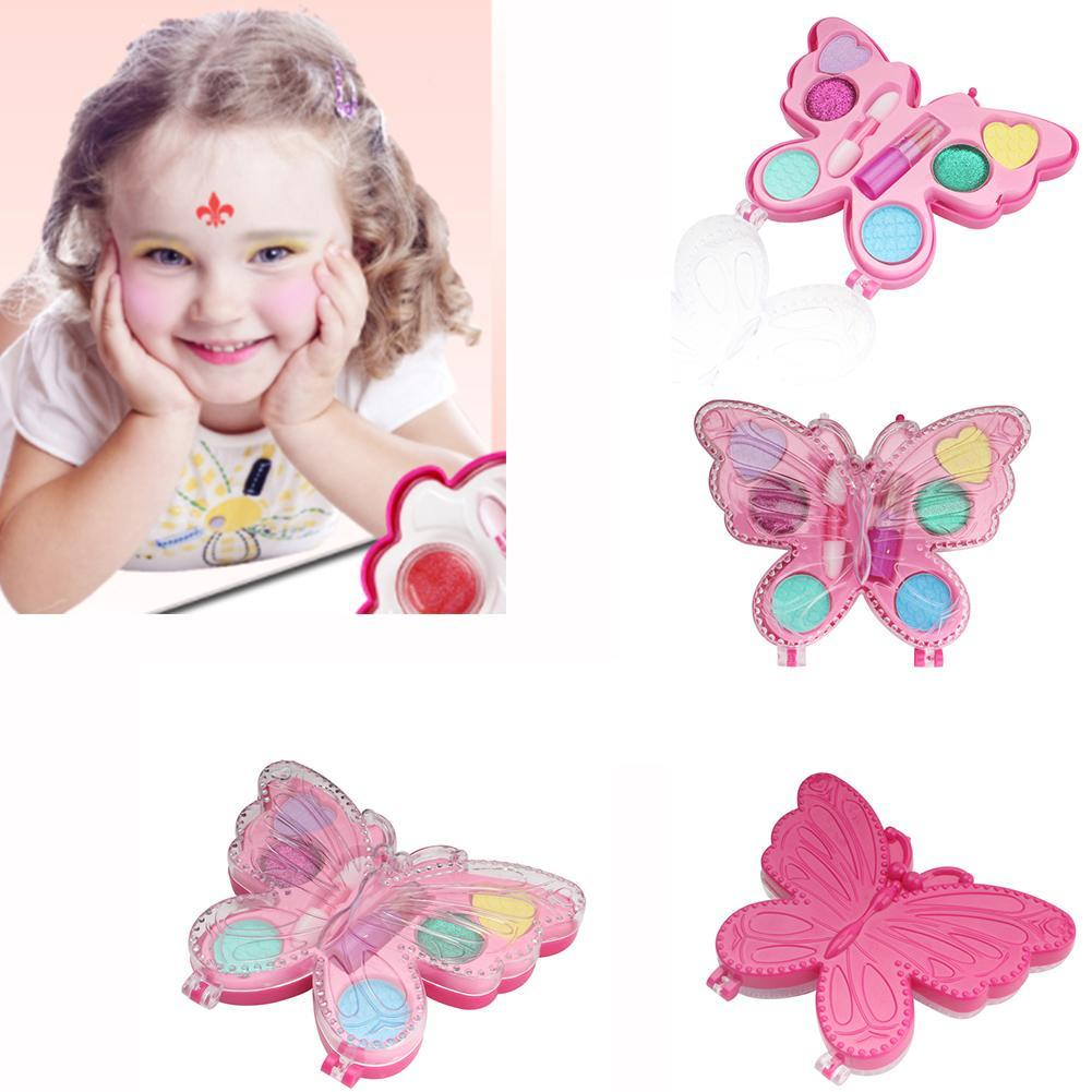 Children's Cosmetic Set Creative Princess Butterfly Makeup Box Toy Girl Eye Shadow Lipstick Set High Quality Toys