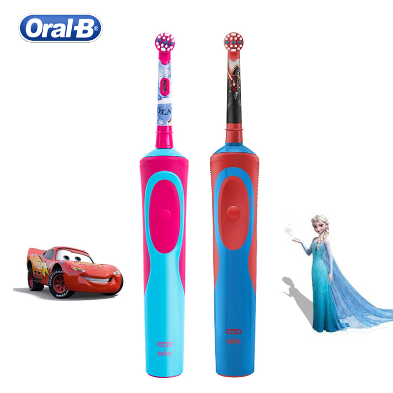 Oral B Kids Electric Toothbrush Brush Heads Rotation Inductive Rechargeable Waterproof Vitality Oral Hygiene image