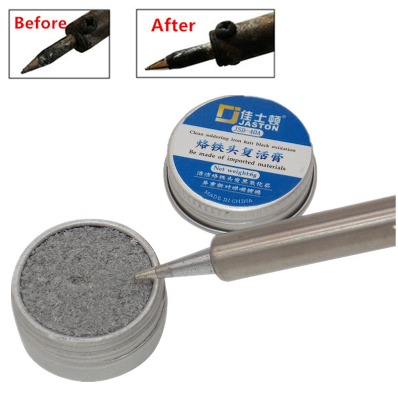 Electrical Soldering Iron Tip Refresher Solder Clean Cream Paste For Oxide Resurrection Solder Iron Tip Head