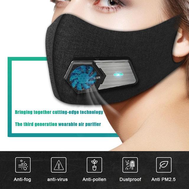 Έξυπνη ηλεκτρική μάσκα με βαλβίδα pm2.5 και Παροχή ψυχρού αέρα