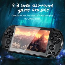 Video Game Console Player X6 for PSP Game Handheld Retro Game 4.3 inch Screen Mp4 Player Game Player Support Camera,Video,E-book 4 3 inch touch screen handheld game consoles psp games console support hd output 8g memory mp5 with camera ultra thin player