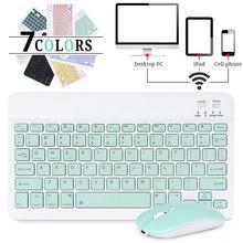 Mini kablosuz klavye Bluetooth klavye için ipad telefon Tablet iPad için Bluetooth klavye ve fare Samsung Xiaomi Android