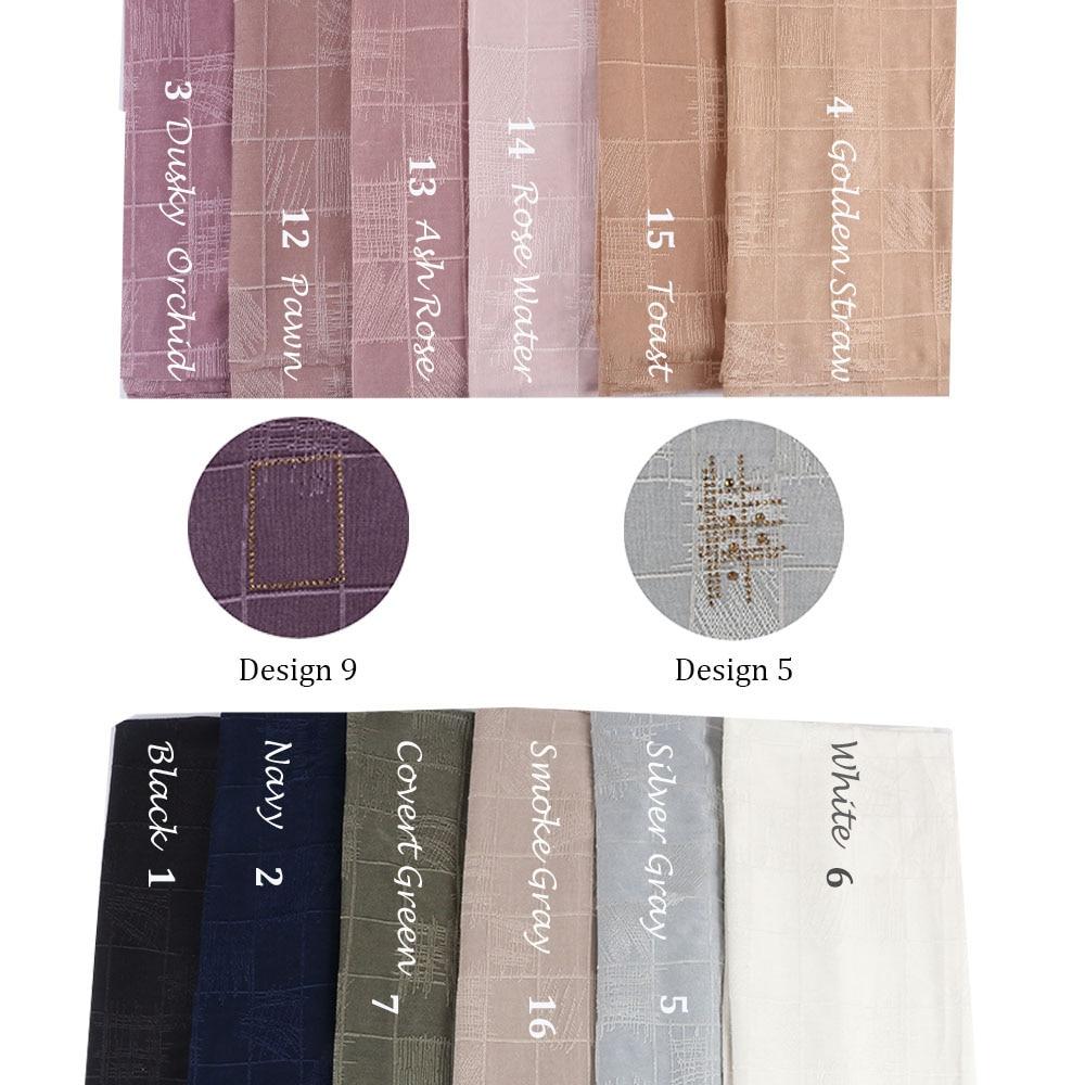 Dbs Design 5 Mix Colors 2 Designs  2020 Wholesale Newest Muslim Women Diamond Jersey Hijabs  Women Netherlands Scarves Dbs05