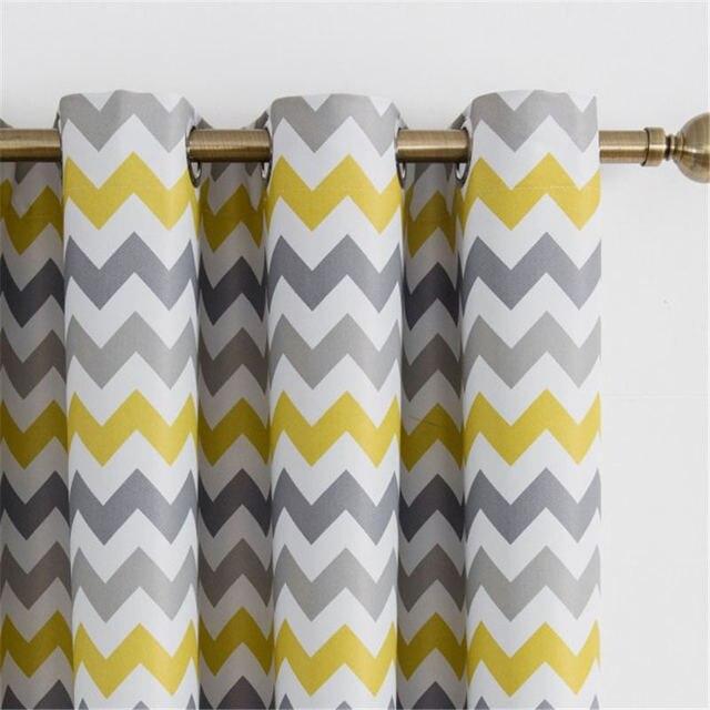 rideaux occultants pour salon decoration de fenetre jaune rideaux de nuit a motif ondule