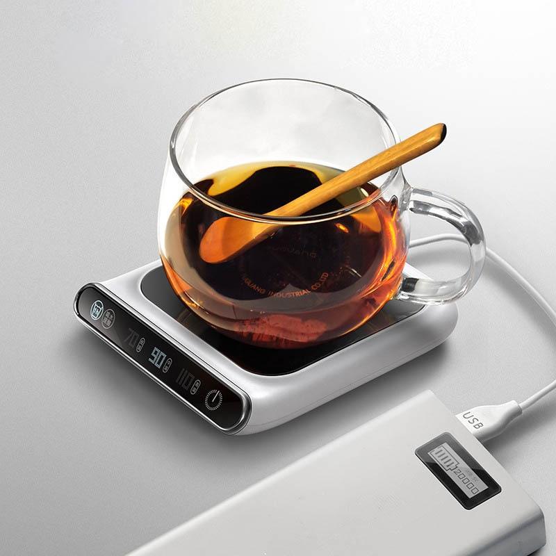 5V Cup Warmer Heated Mug Coasters Cup Heater  3 Gear USB ChargeThermostat Warm Cup Mat Pad Household Hot Milk Coffee Mug Warmer