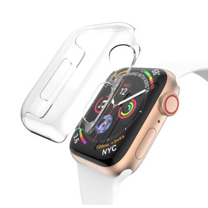 Image 4 - PC Hard Protective Case Shell Frame For iwatch Apple Watch Series 2/3/4/5/6/SE 38mm 42mm 40mm 44mm Screen Protector Glass Cover