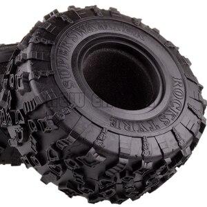 Image 2 - ENRON 4P pneus Super Swamper de 2.2 pouces, pneus de 132MM, pour RC 1/10 escalade, chenille 1:10 RR10 Wraith TRX 4 TRX4 KM2 YETI