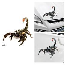 Spider Scorpion Crawling Car Sticker Scratch Cover For Vehicle Truck Window Hood Sticker GiftDecor Accessories Halloween все цены