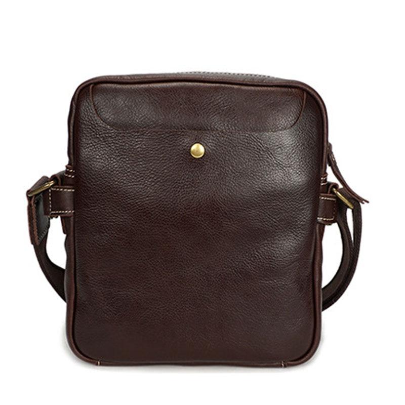 New Men's Messenger BAG Multi-function leather zipper Messenger Phone shoulder Bag business waterproof casual handbag