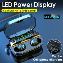 Tws Bluetooth 5.0 bezprzewodowe słuchawki douszne słuchawki z mikrofonem 3500 mAh Power Bank minisłuchawki z redukcją gamingowy zestaw słuchawkowy