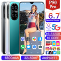 2021 New Global Version P50 Pro 7.3 Inch Smartphone Deca Core 6800mAh 16+512GB Dual SIM Full Screen 4G 5G Android Mobile Phone