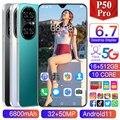 2021 Новая глобальная версия P50 Pro мобильный телефон 6,7 дюймовый смартфон Deca Core, размер экрана 6800 мА/ч, 16 + 512 Dual SIM полный Экран 4G 5G Android