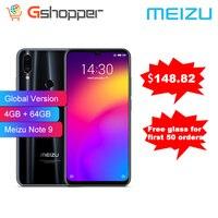 Global Verrion Meizu Note9 Phone 48.0MP Camera 4GB RAM 64GB ROM 4G LTE Snapdragon 675 Octa Core 6.2 2244x1080p FHD Fingerprint