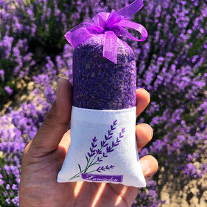 Natural Lavender Bud Dry Flower Sachet Bag Car Room Aromatic Air Refresh Desiccant Home Fragrance Sachets Moth &Mildew