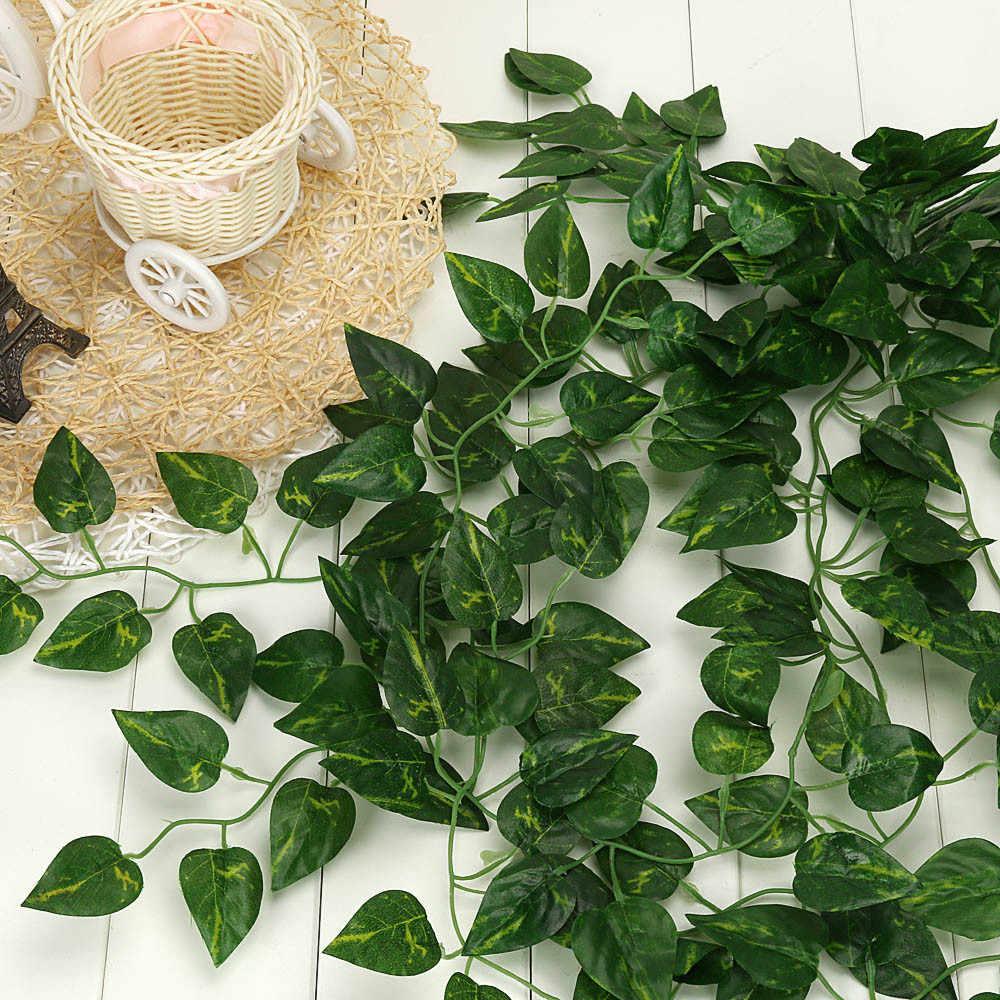 Sztuczne rośliny zielona ściana fałszywe girlanda liście roślin Garland strona główna ściana ogrodu dekoracja wystrój salonu
