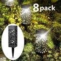8 шт. светодиодный светильник на солнечных батареях для сада  автоматический светодиодный светильник для патио  двора и сада