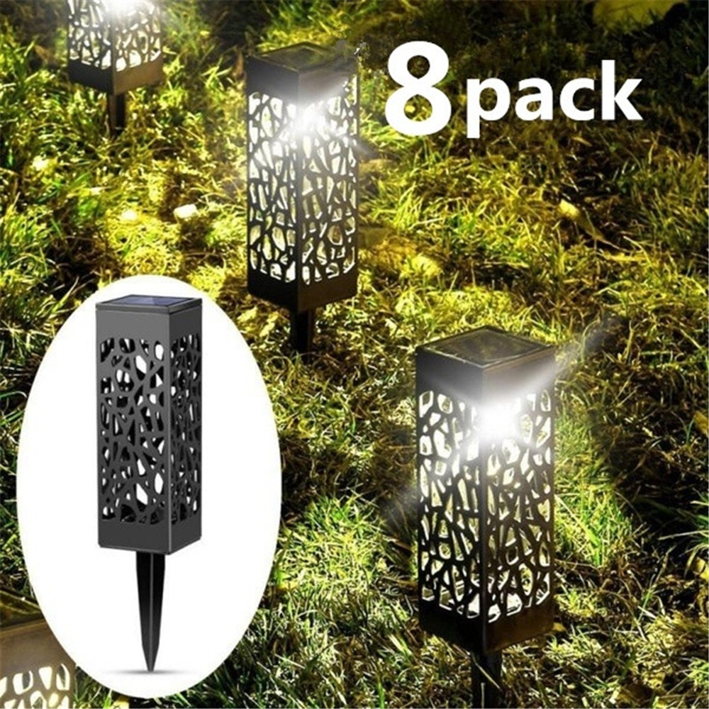 8 Pcs Solar Powered LED Garden Lights, Automatic Led For Patio, Yard And Garden