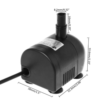 DC Water Pomp 5V 12 V Volt BLDC Submersible DC12V 350L/H 2.2m Micro Electric Mini Portable Brushless 12V 6V Motor Pumps JT 250 dc water pomp 12v 1000 1200l min vacuum pump 12 v volt dc12v electric diaphragm pumps for drinking diy auto watering equipment