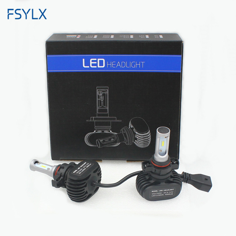 FSYLX 8000lm S1 CSP LED Headlight Bulb Auto H1 H3 H7 H11 9006 9005 LED Headlight LED Car Headlamp Day Time Driving Fog Light