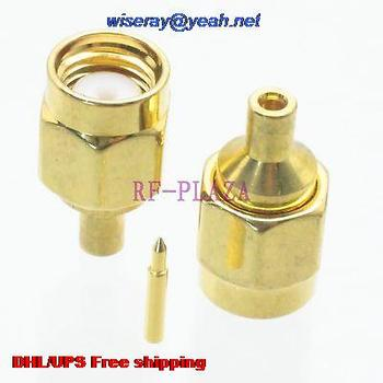 "DHL/EMS 200pcs Connector SMA male plug solder for semi-rigid RG047 B1674A 0.047"" Straight -A3"