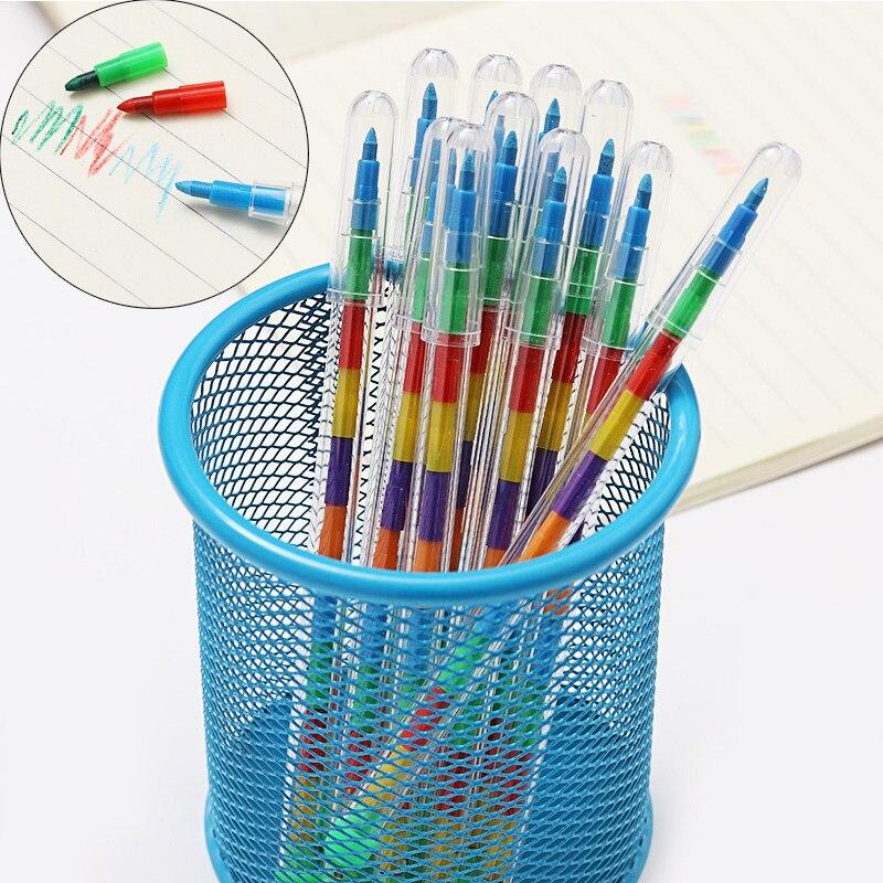 4 Uds 10 Colores Diy Crayones Reemplazables óleo Pastel Creativo Lápiz De Colores Pluma De Graffiti