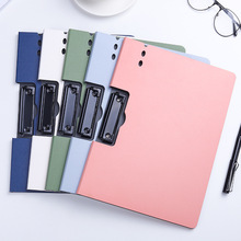 A4 File Folder Clipboard Writing Pad Memo Clip Board Double Clips Test Paper Storage Organizer School Supplies Office Stationary