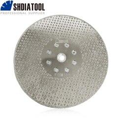 Фланец SHDIATOOL 9 /230 мм 5/8-11, гальванические двухсторонние алмазные режущие и шлифовальные диски, Гранитная и мраморная пила