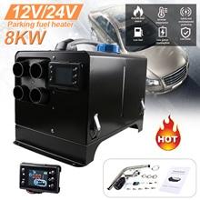 Car Heater 12V/24V Fuel Heater Vehicle Air Heater Parking Fuel Air Heater LCD Display Heater For Camper Van Bus Boats Fan Diesel