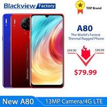 Blackview a80 smartphone 13mp quad câmera traseira android 10.0 go 6.21 watercellphone waterdrop celular 4200mah 2gb + 16gb 4g lte telefone móvel