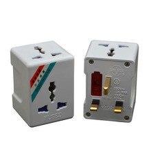 1 Đến 3 Cách Anh Hợp Nhất Cắm Chuyển Đổi Du Lịch AC Ổ Cắm Điện Quốc Tế Adapter 13A 250V 3250W Đa Năng EU Mỹ Âu Ổ Cắm Bộ Đổi Nguồn