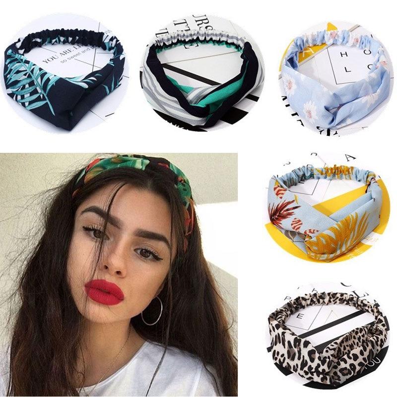 Summer Hair Bands Soft Cross Turban Hairband Women Hair Accessories Girls Headband Fabric Floral Hair Band Ladies Hoop