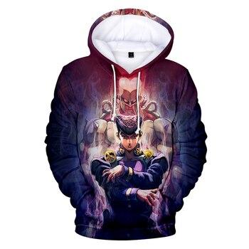 Hot Anime JoJo Bizarre Adventure Hoodie Kids/Men/women Casual Sweatshirt Harajuku Cartoon Hip Hop Anime Hoodie Cool Coats