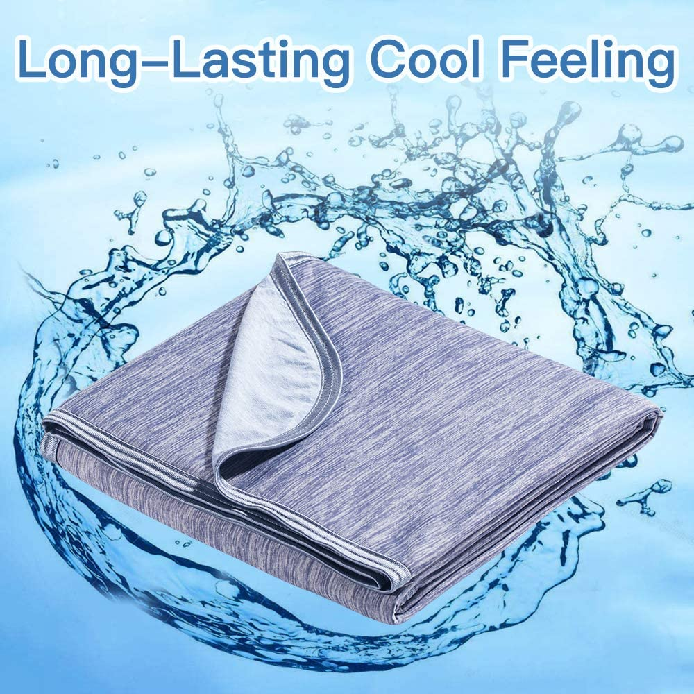 Cooling Weighted Blanket Cool-to-Touch Tech Mica Nylon Cooling Fiber Throw Breathable Summer Sherpa Throw Blanket  Dropshipping