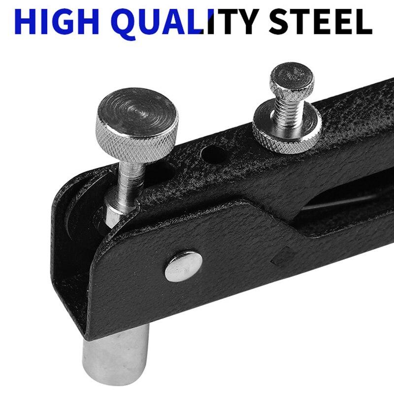 Купить с кэшбэком 86pcs/Set Blind Rivet Gun Heavy Duty Nut Threaded Insert Hand Riveting Kit M3-M8 Rivet Nuts Nail Gun Household Repair Tools