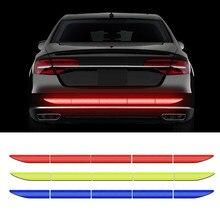 Carro reflexivo fita adesivos tira de advertência exterior refletir fita traceless protetora etiqueta do carro tronco corpo acessórios do automóvel
