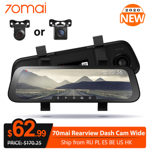 New Arrive 70mai 9.35 Inch Car Dvr Streaming Rear View Mirror Dash Camera HD 1080P Video Recorder Dual Lens With Rear View Cam