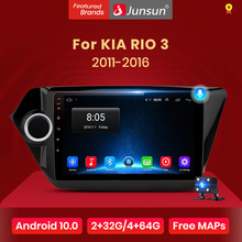 Junsun V1 Android 10.0 Ai Voice Control 4G Dsp Carplay Auto Radio Multimedia Gps Voor Kia Rio 3 2011-2016 Rio Sedan 2 Din Dvd