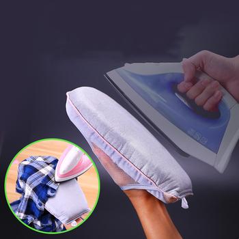 Mini podkładka do prasowania rękaw deska do prasowania uchwyt odporna na wysoką temperaturę rękawica na ubrania parownica do odzieży przenośna rękawica do prasowania tanie i dobre opinie Wieszak na ubrania Przenośne Z tworzywa sztucznego Żelaza rury DKF7401A Neatening przechowywania Ironing Gloves Steamer Gloves