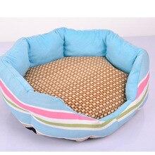 Дышащий спальный коврик для собак, кошек, щенков, собачек, охлаждающая Подушка, овальная сетка, бамбуковые коврики, высокое качество