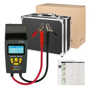 Image 5 - רכב סוללה בודק עם הדפסת 12V 24V מנתח עופרת חומצה אוטומטי CCA IEC EN DIN JIS עבור נייד מדפסת אבחון כלי DY3015C