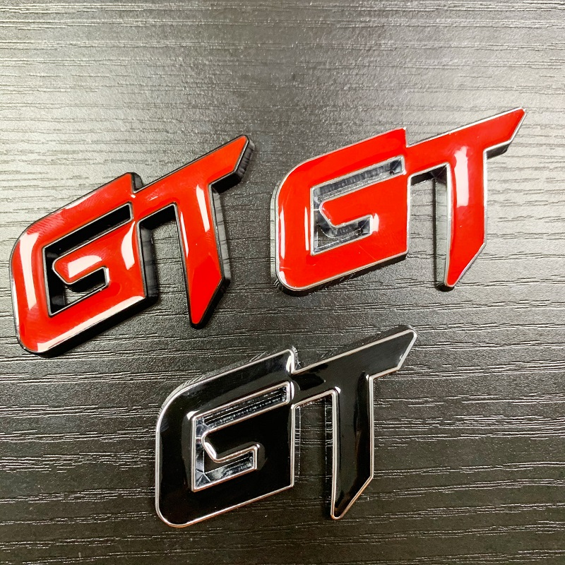 Sonline Cool Autocollant De Style De Voiture 3D Ligne GT Autocollant pour Arri/èRe Porte De Voiture Porte Autocollants GT
